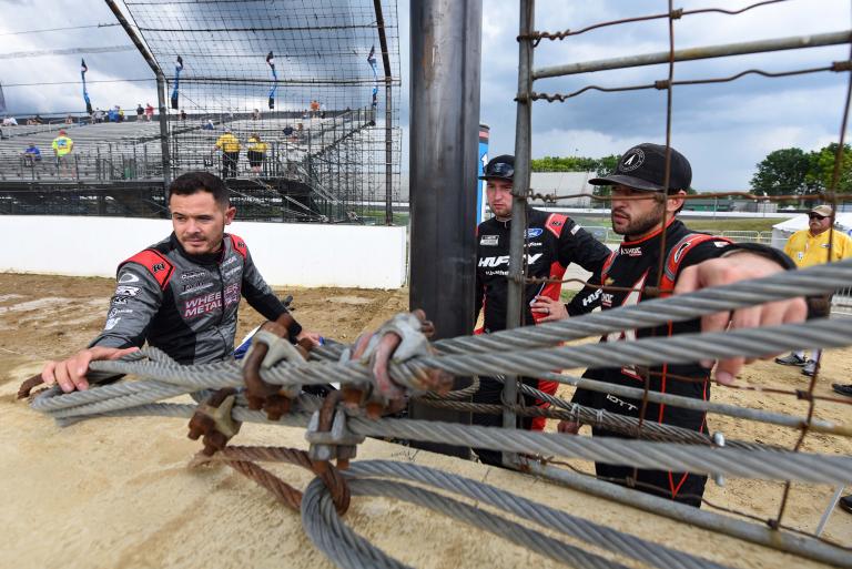 Kyle Larson, Chase Brisoce, Chase Elliott - Dirt Track