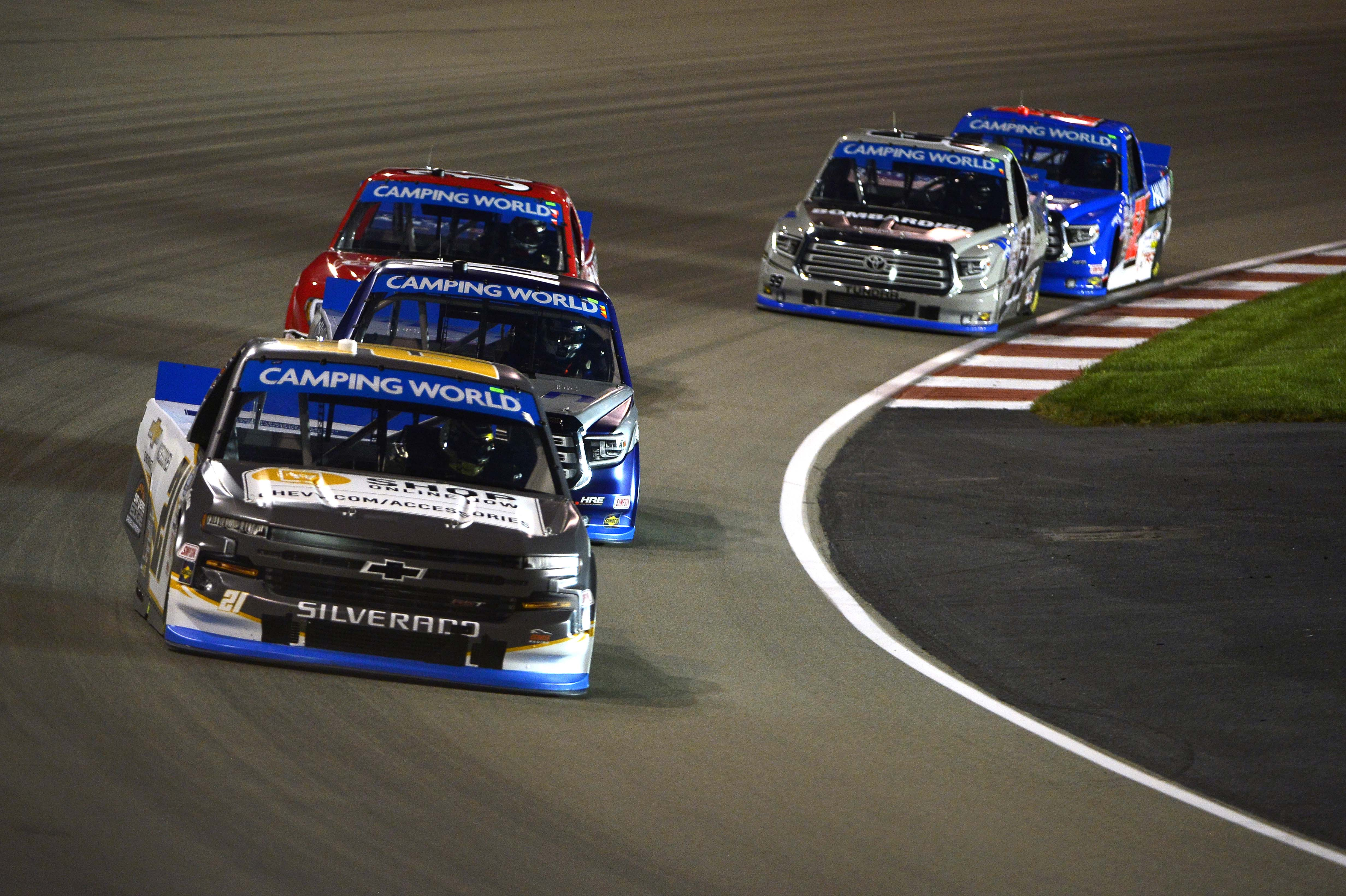 Sheldon Creed leads at WWT Raceway at Gateway - NASCAR Truck Series