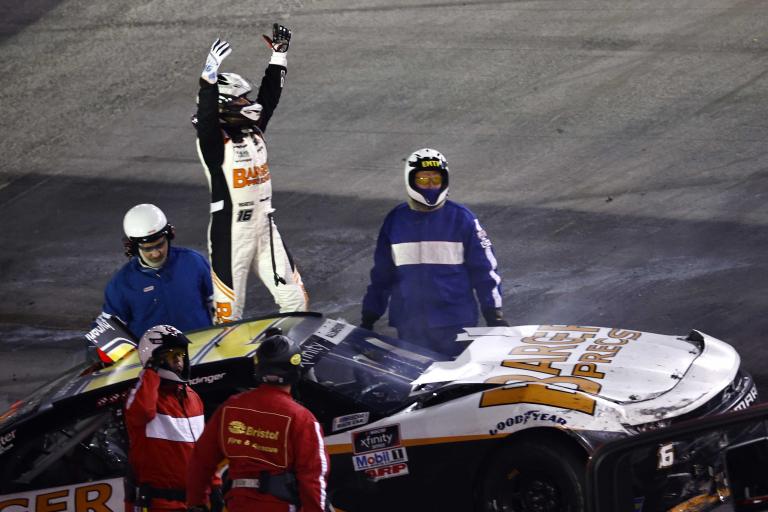 AJ Allmendinger wins at Bristol Motor Speedway - NASCAR Xfinity Series