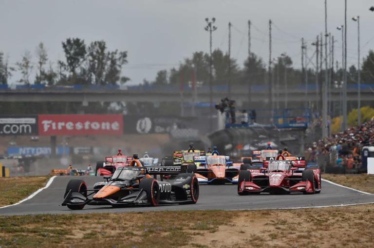 Pato O'Ward, Graham Rahal at Portland International Raceway - Indycar Series