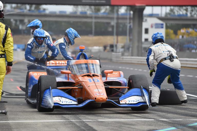 Alex Palou pit stop at Portland International Raceway - Indycar Series