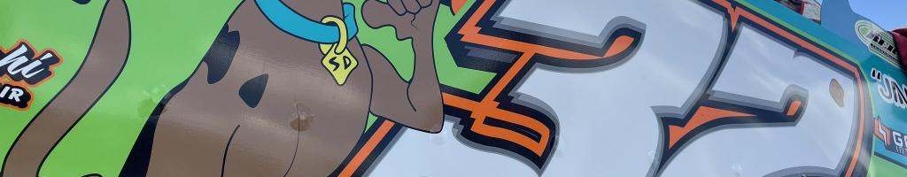Scooby Doo race car unloads at Eldora Speedway (Photos)