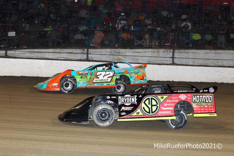 Bobby Pierce, Scott Bloomquist - Eldora Speedway - Dirt Late Model Racing - World 100