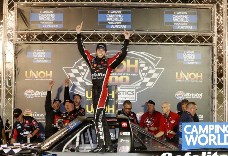 Chandler Smith in victory lane at Bristol Motor Speedway - NASCAR Truck Series