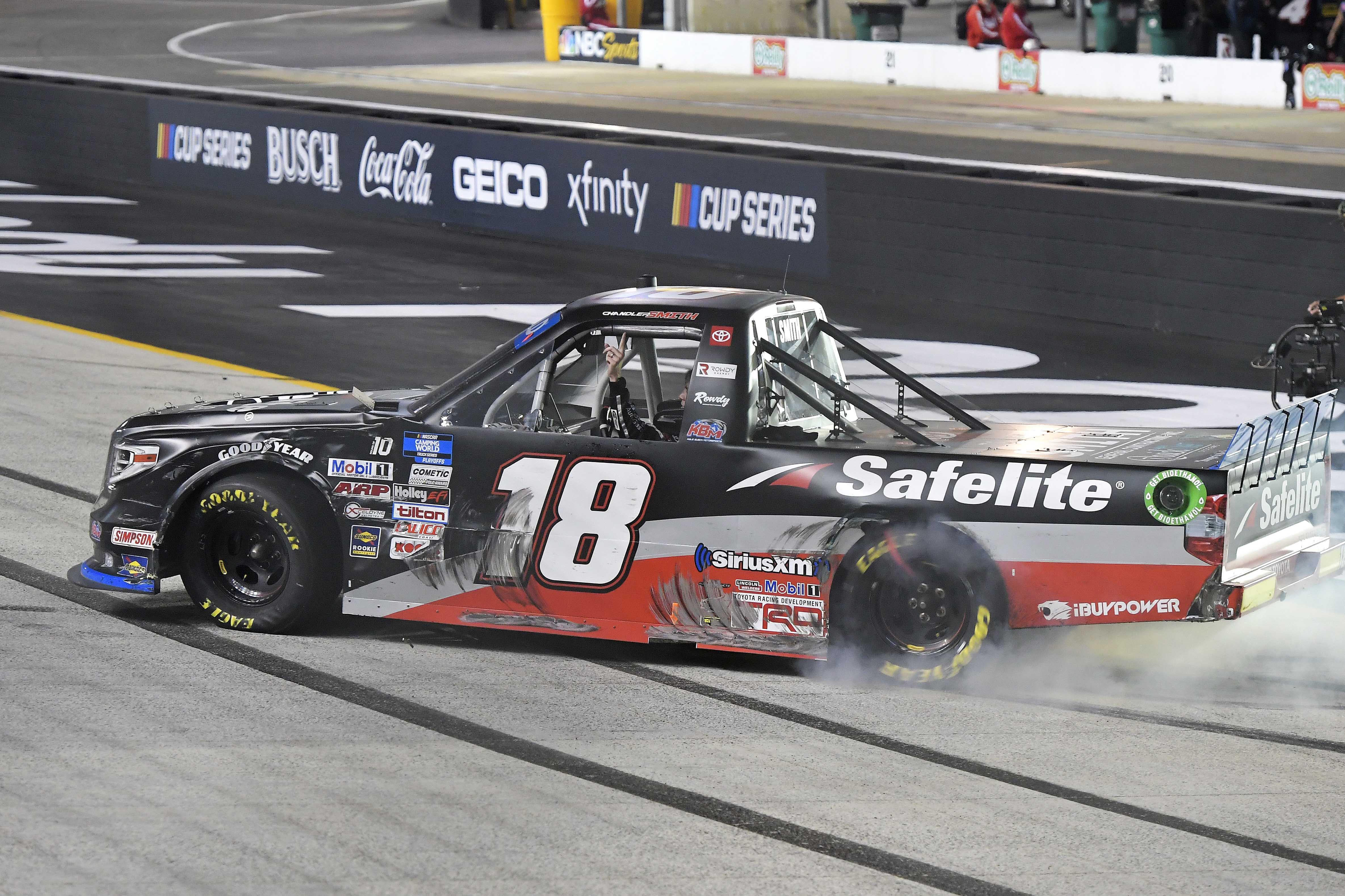 Chandler Smith wins Bristol Motor Speedway - NASCAR Truck Series - Burnout