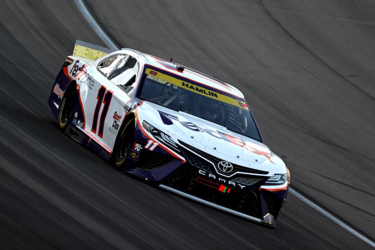 Danny Hamlin at Las Vegas Motor Speedway - NASCAR Cup Series