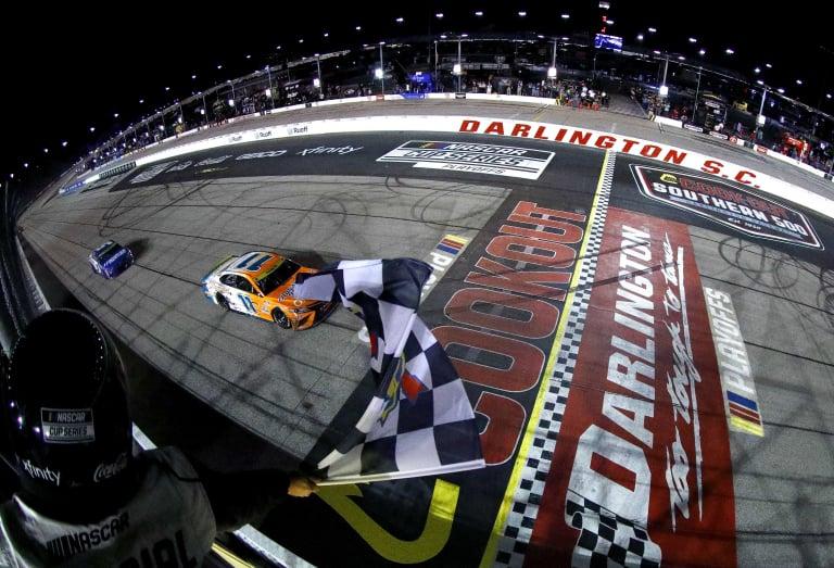 Denny Hamlin wins Darlington Raceway - NASCAR Cup Series