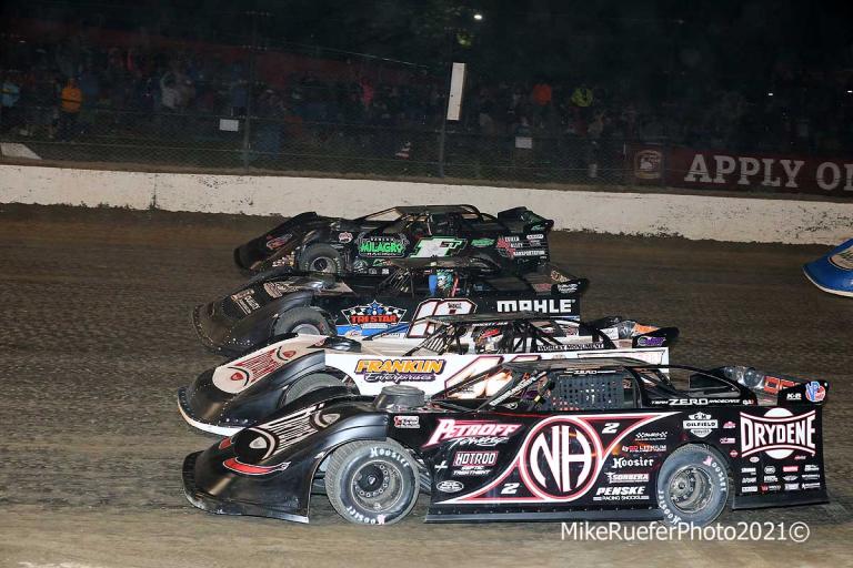 Four Wide - Eldora Speedway - Dirt Late Model