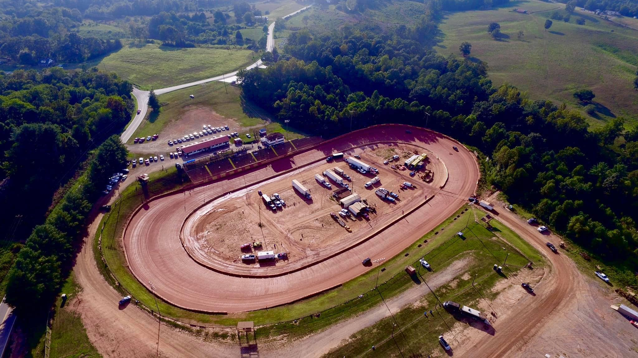 Friendship Motor Speedway from the air