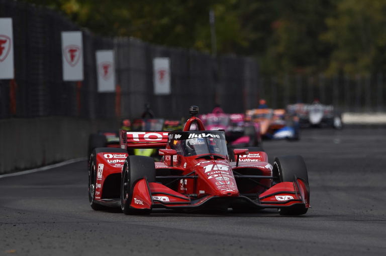 Graham Rahal at Portland International Raceway - Indycar Series