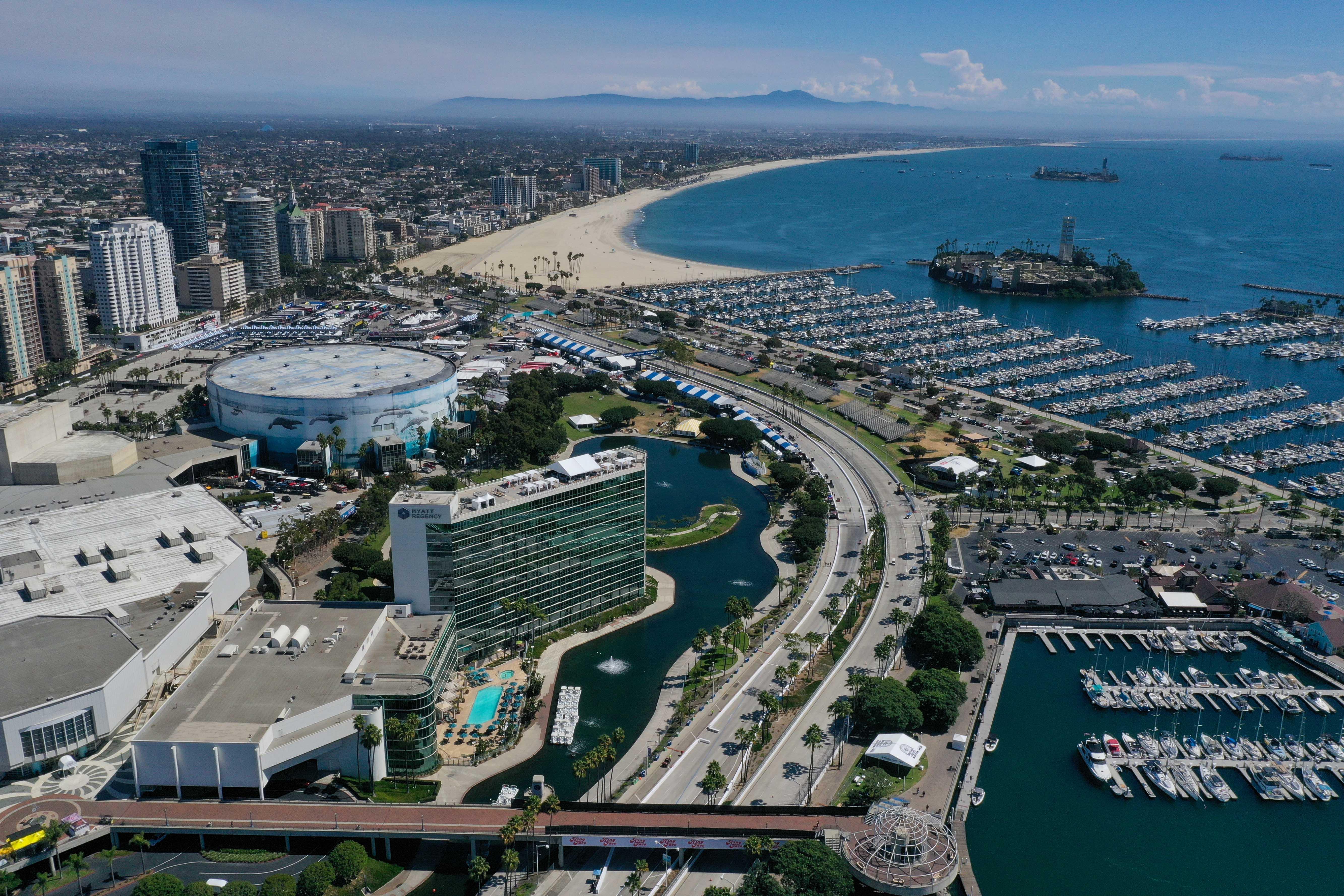 Grand Prix of Long Beach - Indycar Series - Aerial Photo
