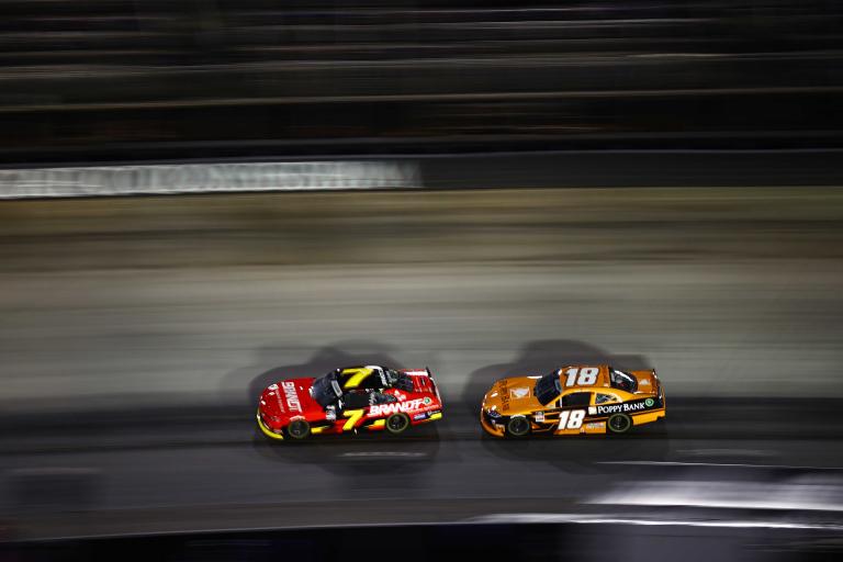 Justin Allgiaer, Daniel Hemric - Bristol Motor Speedway - NASCAR Xfinity Series