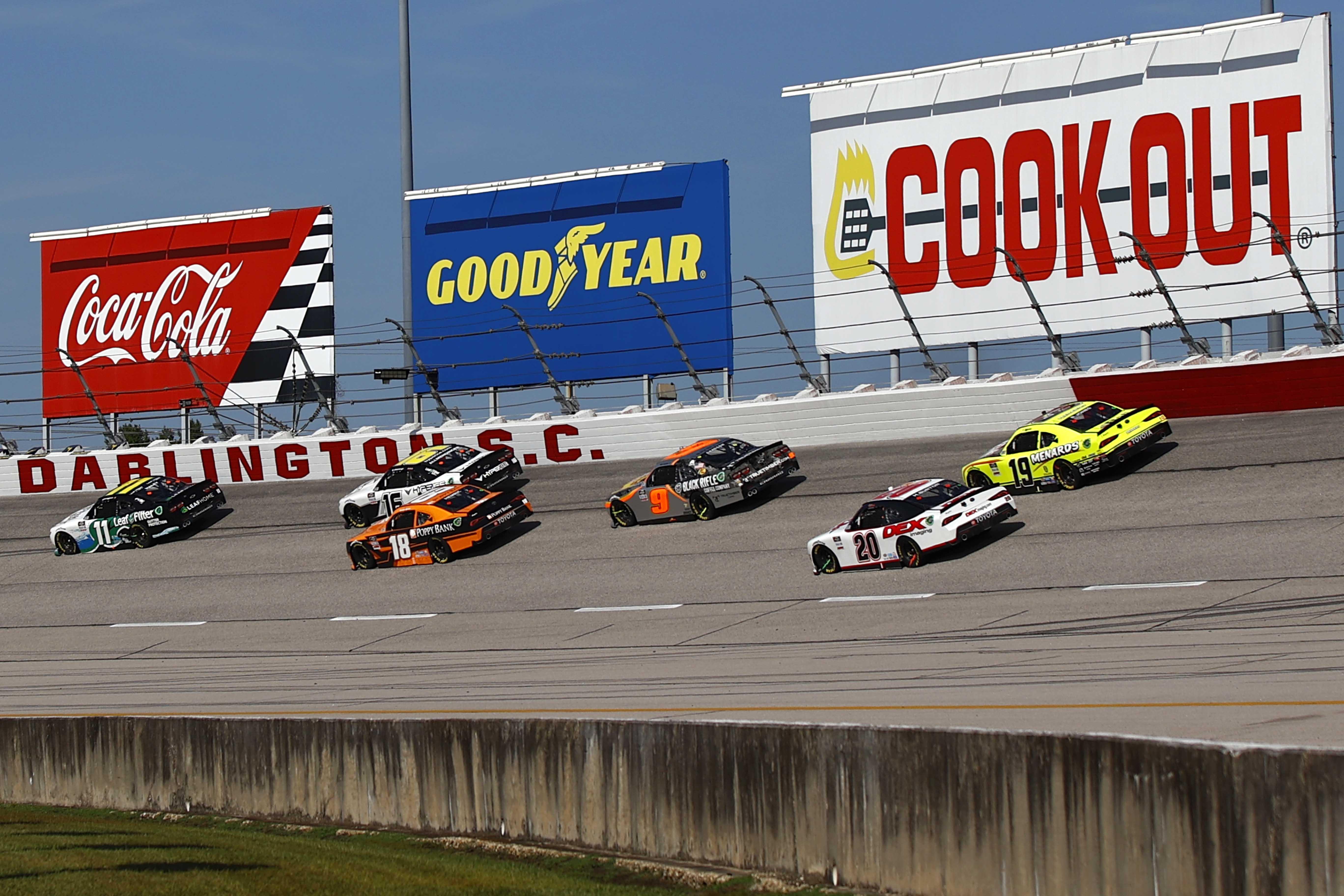 Justin Haley, AJ Allmendinger, Daniel Hemric, Noah Gragson - NASCAR Xfinity Series - Darlington Raceway