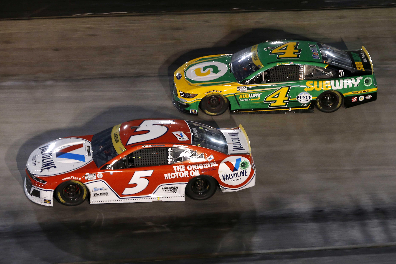 Kyle Larson, Kevin Harvick - Bristol Motor Speedway - NASCAR Cup Series
