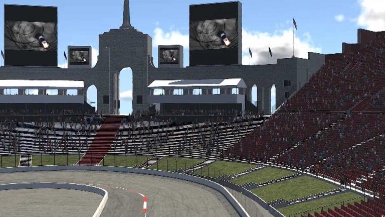 LA Coliseum - NASCAR track - iRacing screenshot