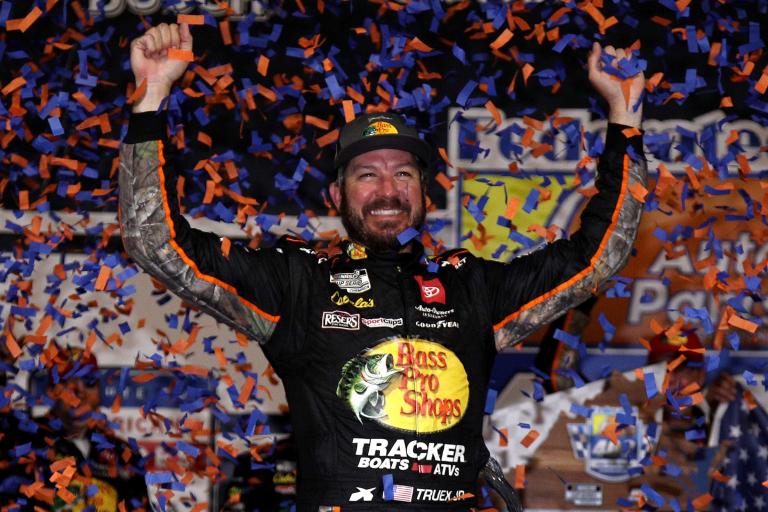 Martin Truex Jr in victory lane at Richmond Raceway - NASCAR Cup Series