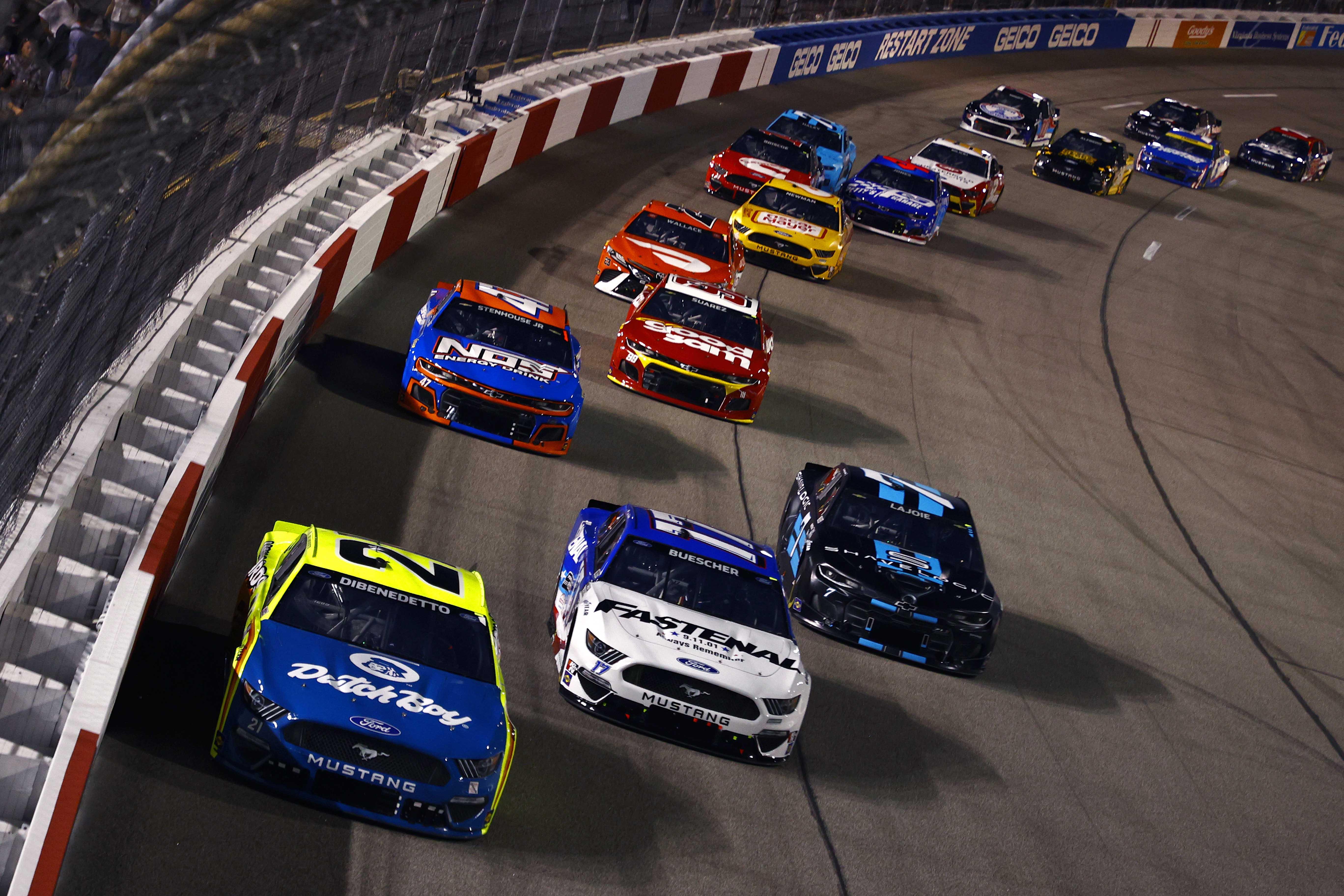 Matt DiBenedetto, Chris Buescher, Corey LaJoie, Ricky Stenhouse Jr - Richmond Raceway - NASCAR Cup Series