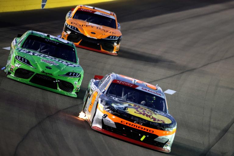 Noah Gragson, Ty Gibbs - Las Vegas Motor Speedway - NASCAR Xfinity Series