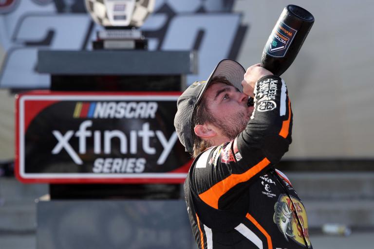 Noah Gragson in victory alen - NASCAR Xfinity Series - Richmond Raceway