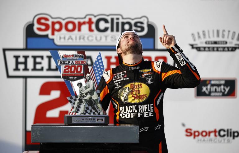 Noah Gragson victory lane - NASCAR Xfinity Series - Darlington Raceway