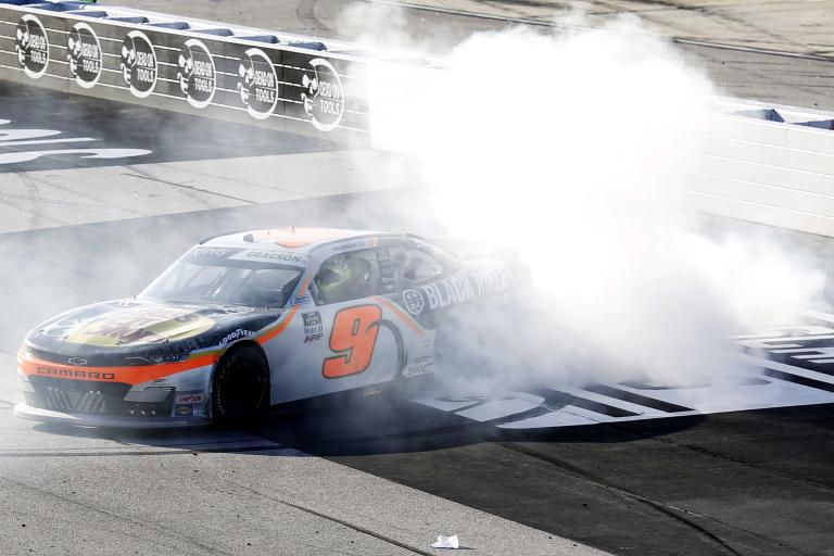 Noah Gragson wins - NASCAR Xfinity Series - Darlington Raceway - Burnout