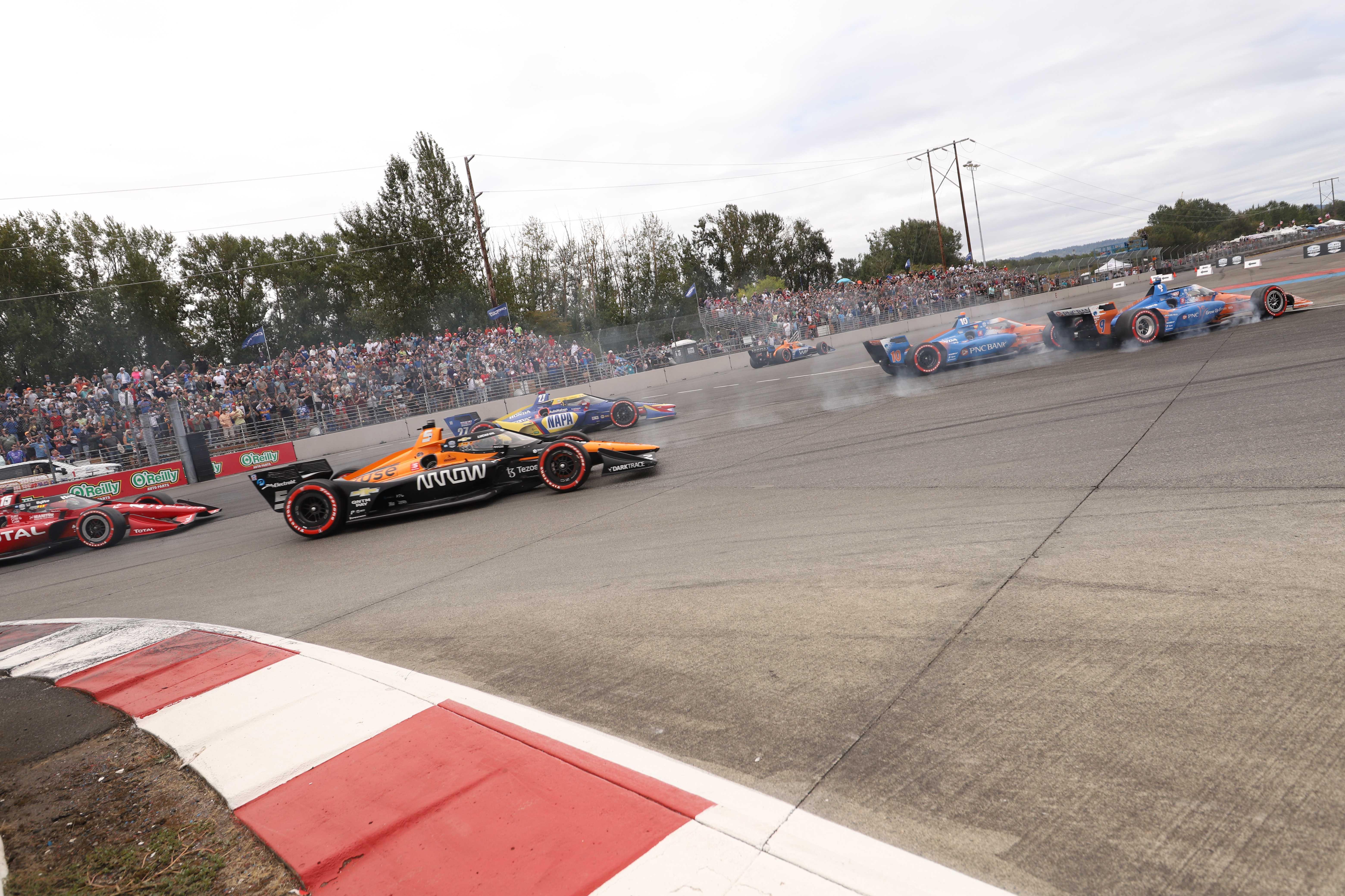 Portland International Raceway - Crash - Indycar Series