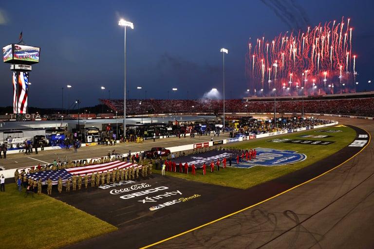 Richmond Raceway - NASCAR Cup Series - National Anthem - American Flag