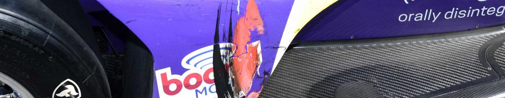 Romain Grosjean jumps curbs and slices through Laguna Seca field (Video)