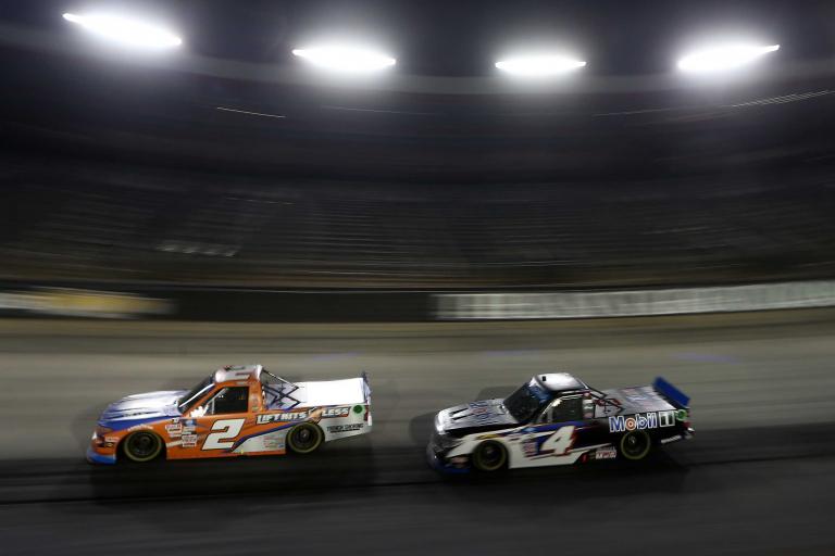 Sheldon Creed, John Hunter Nemechek at Bristol Motor Speedway - NASCAR Truck Series