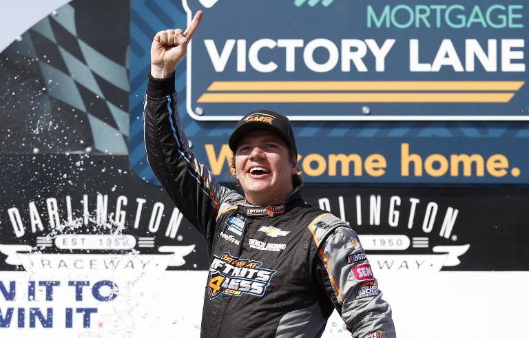 Sheldon Creed in victory lane - NASCAR Truck Series - Darlington Raceway