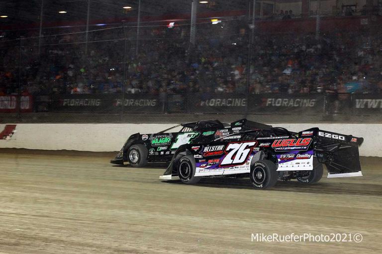 Stormy Scott and Brandon Overton - Eldora Speedway - Dirt Late Model Racing