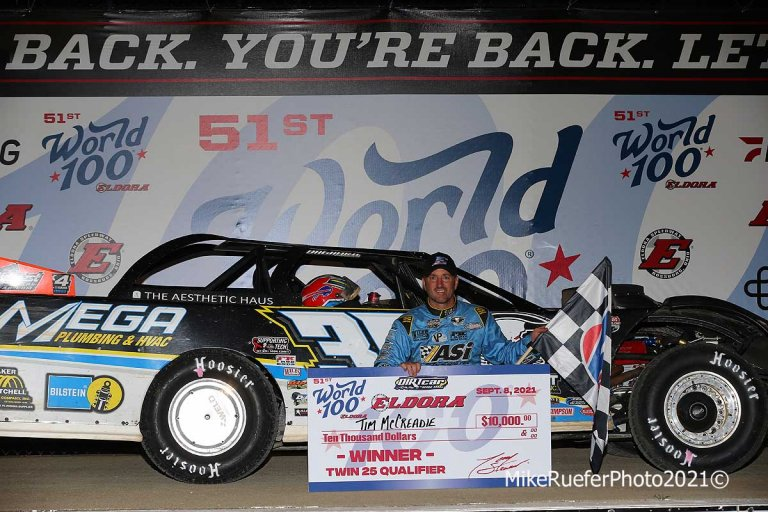 Tim McCreadie in victory lane - Eldora Speedway - Dirt Late Model
