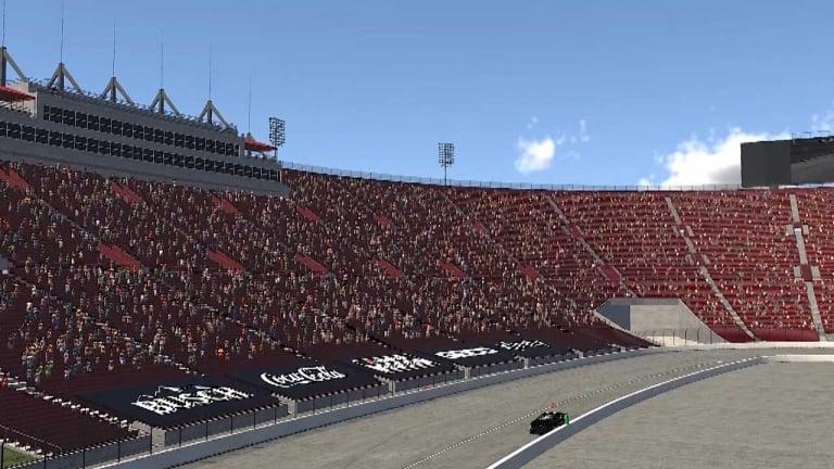 iRacing Screenshot - Los Angeles Coliseum - NASCAR track