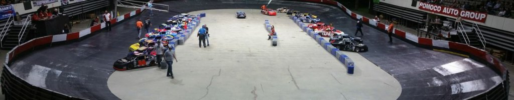 Indoor racing series and track listed for sale