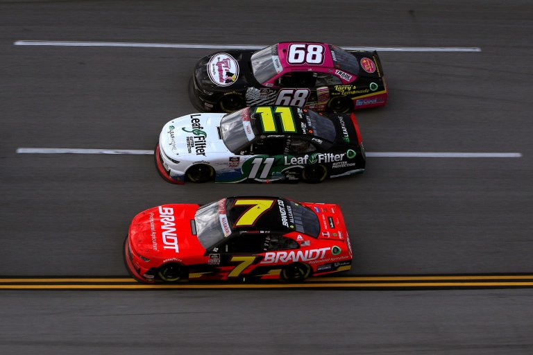 Brandon Brown, Justin Haley, Justin Allgaier at Talladega Superspeedway - NASCAR Xfinity Series