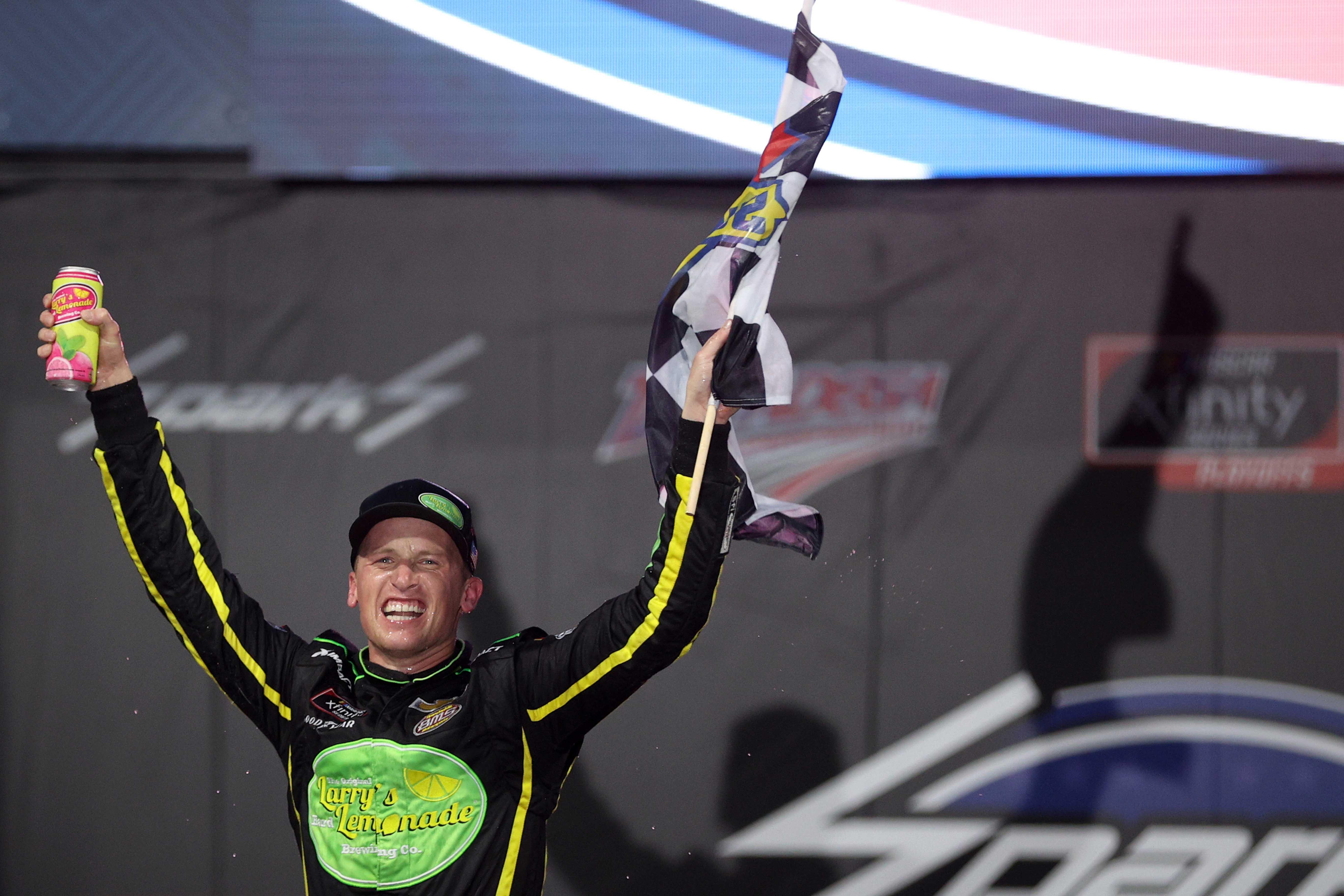 Brandon Brown in victory lane at Talladega Superspeedway - NASCAR Xfinity Series