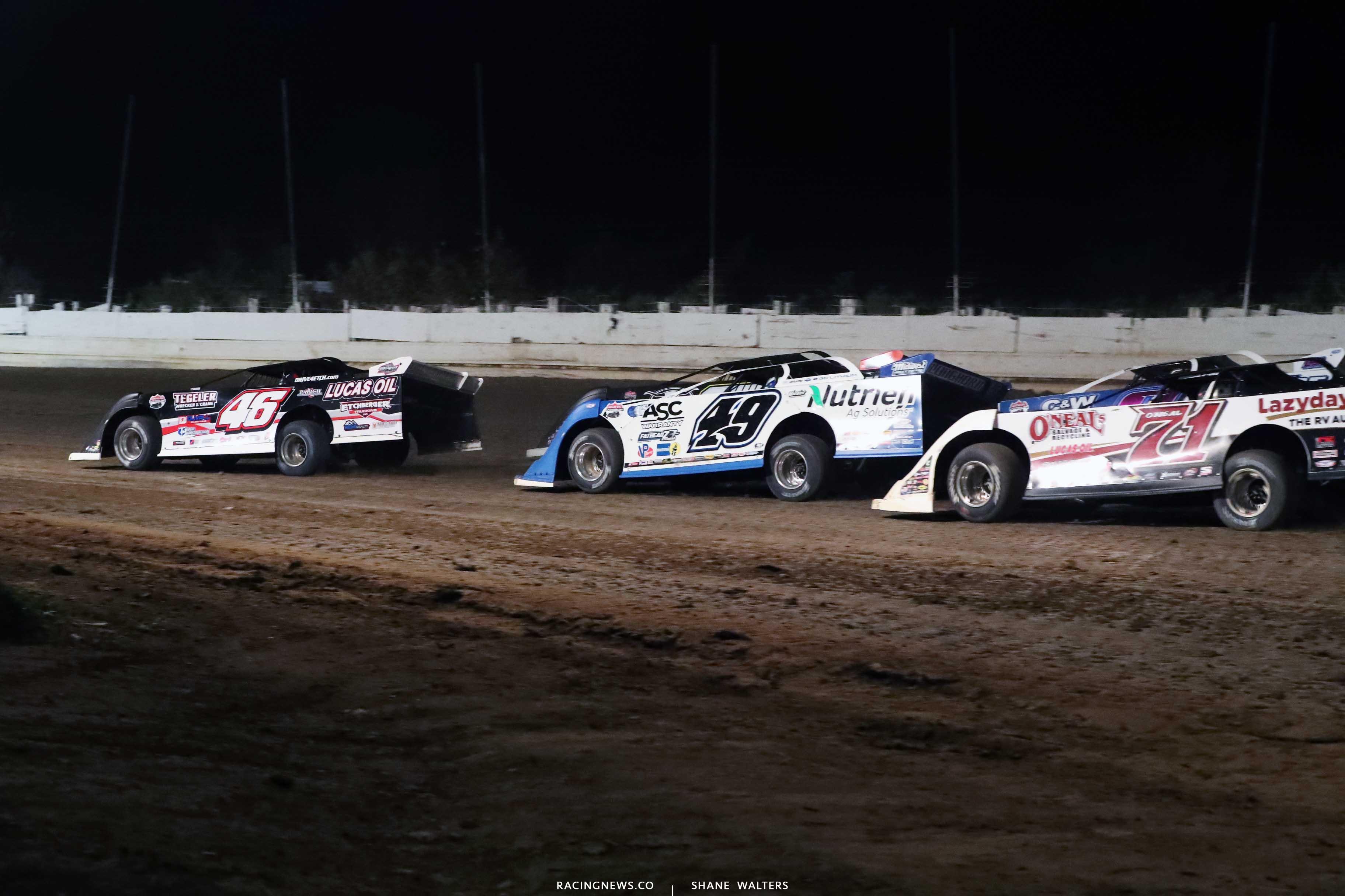 Earl Pearson Jr, Jonathan Davenport, Hudson O'Neal - Pittsburgher 100 - Pennsylvania Motor Speedway - Lucas Late Models A35I0329