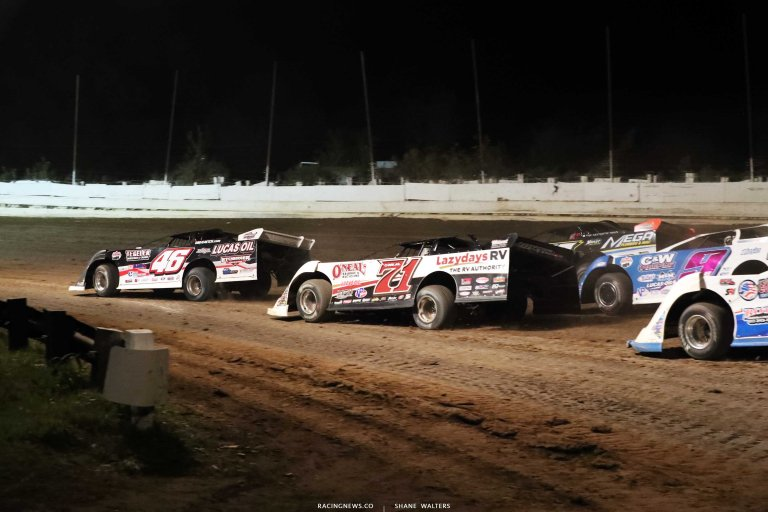 Earl Pearson Jr and Hudson O'Neal - Lucas Late Models - Dirt Racing A35I0344