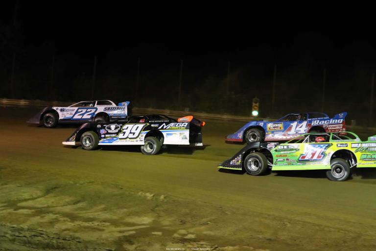 Gregg Satterlee, Tim McCreadie, Josh Richards, Tyler Erb - Lucas Oil Late Model Dirt Series - Raceway 7 A35I0066