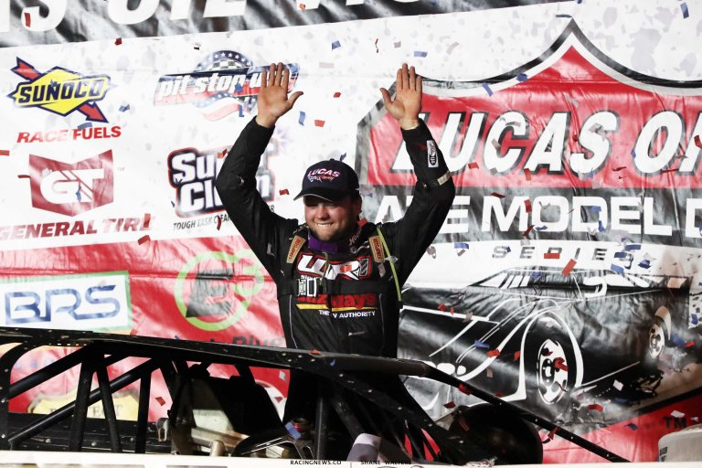 Hudson O'Neal in victory lane - Pittsburgher 100 A35I0383