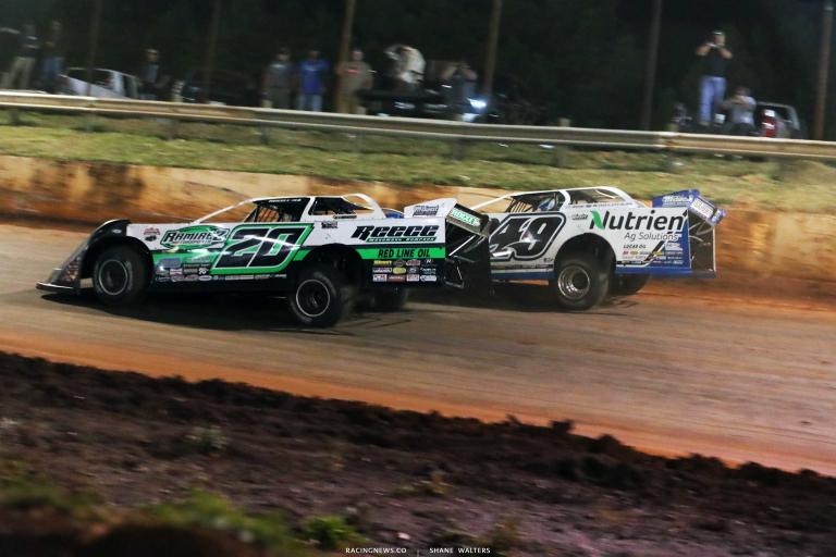 Jimmy Owens, Jonathan Davenport - Rome Speedway - Lucas Dirt Series A35I0628