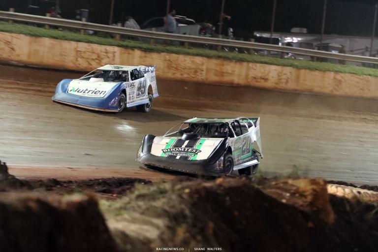 Jimmy Owens, Jonathan Davenport - Rome Speedway - Super Late Model Racing A35I0595