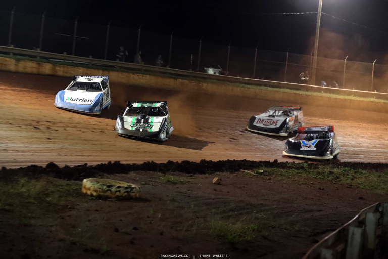 Jimmy Owens, Jonathan Davenport, Tim McCreadie - Rome Speedway - Dirt Track Racing A35I0579