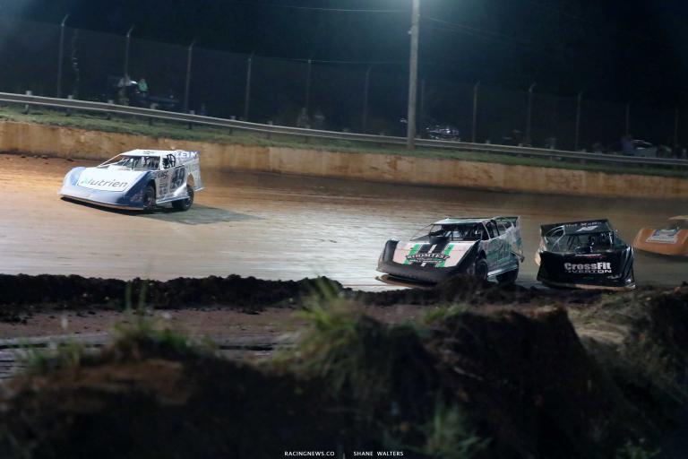 Jonathan Davenport, Jimmy Owens, Brandon Overton - Rome Speedway - Lucas Series A35I0606