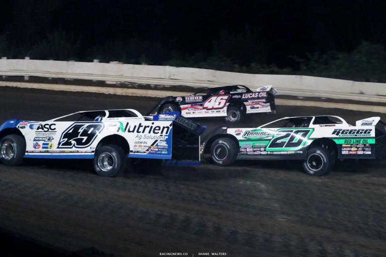 Jonathan Davenport, Jimmy Owens, Earl Pearson Jr - Pennsylvania Motor Speedway - LOLMDS A35I0241