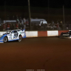 Jonathan Davenport and Brandon Overton at Dixie Speedway - Lucas Oil Late Model Dirt Series A35I0475