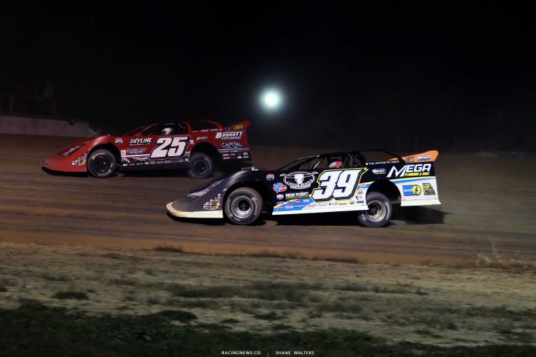 Raceway 7 - Lucas Oil Late Model Dirt Series - Tim McCreadie, Shane Clanton A35I0124