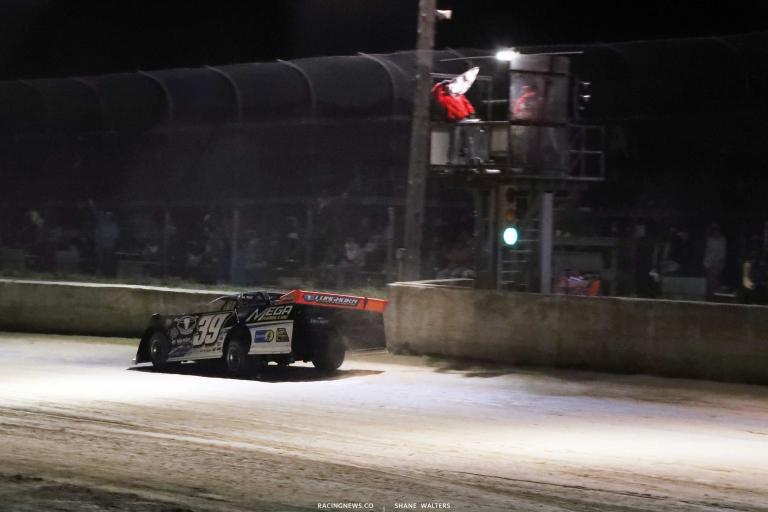 Tim McCreadie wins at Raceway 7 - Ohio Dirt Track A35I0133